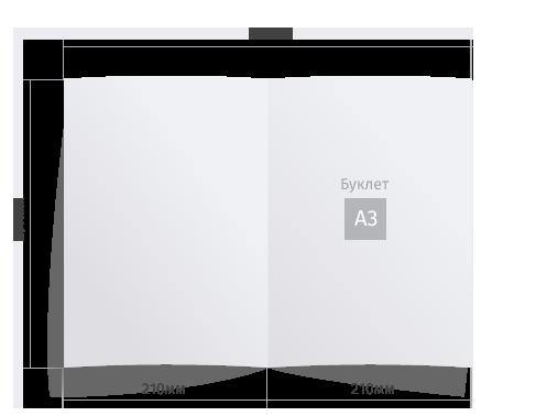 Буклет А3 формата