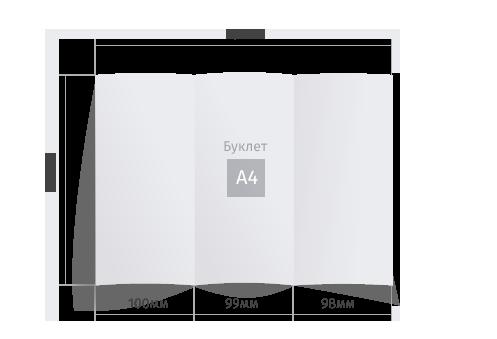 Буклет А4 размера