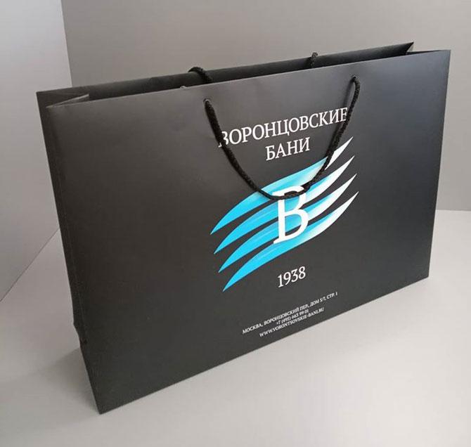 большой пакет с логотипом